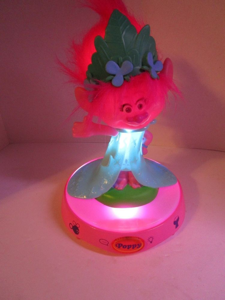 Dreamworks TROLL Poppy Musical Singing Talking Glowing Night Light