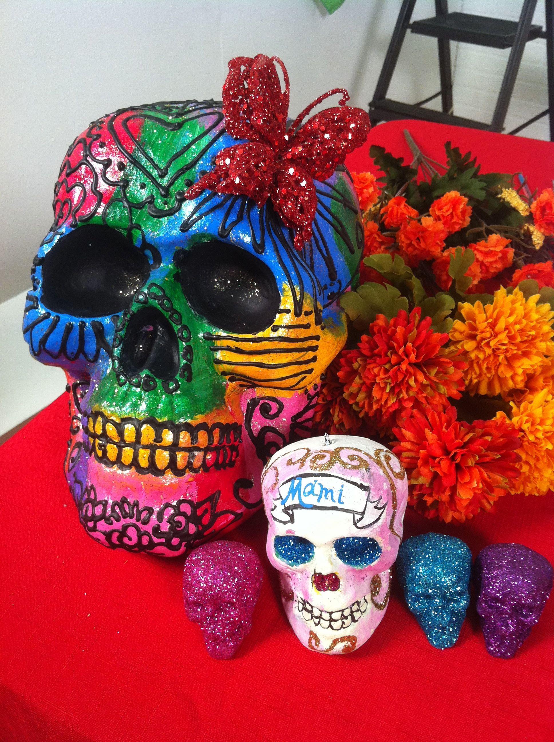 ~I made new sugar skull decorations!~   CraftDiva   Pinterest