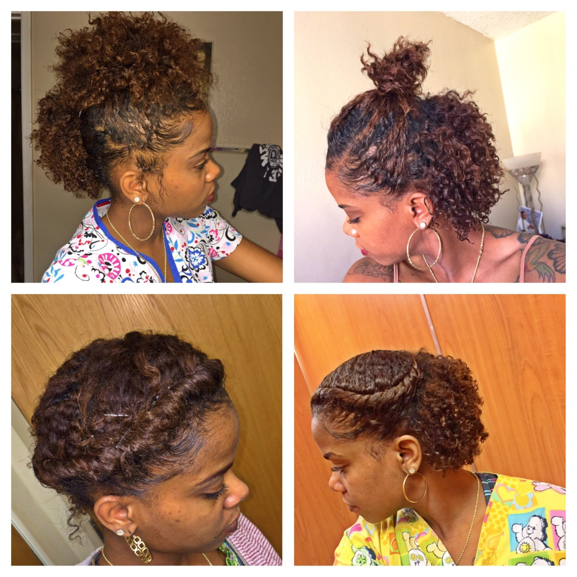 Cute Quick Hairstyles For Short African American Hair Basic Hairstyles For Quick Hairstyles For Short Natural Hair Styles Short Hair Styles Easy Hair Styles