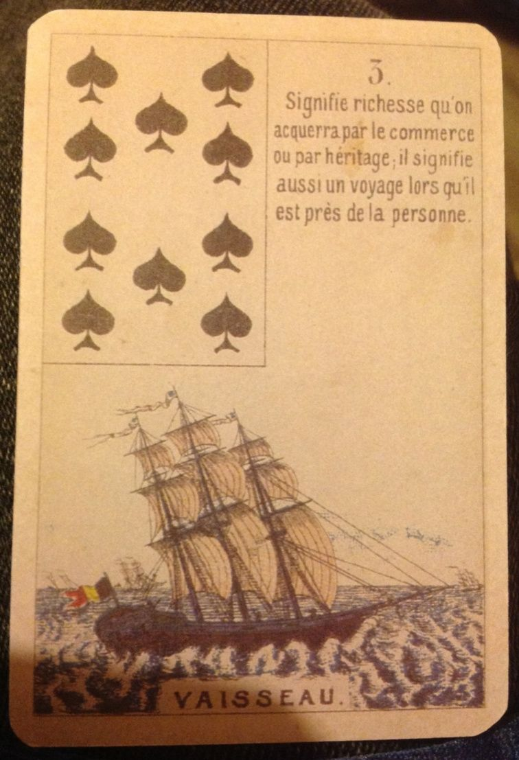 Daveluy deck reshuffles things fortune telling cards