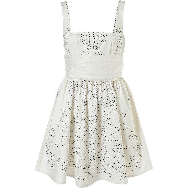 Cotton Stud Dress ($135) ❤ liked on Polyvore featuring dresses, vestidos, casual dresses, women, studded dress, frilly dress, cotton ruffle dress, cotton summer dresses and flounce dress