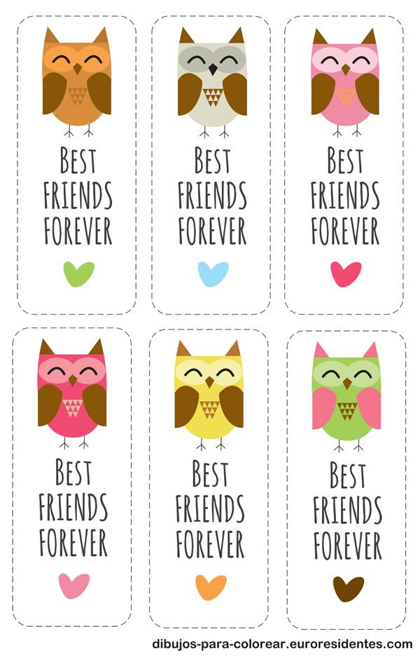 Bonitas tarjetas de mejores amigas para imprimir gratis - Manualidades