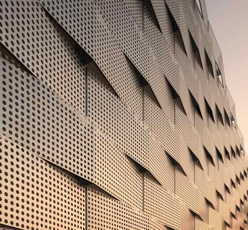 Architektur Fassade lochbleche in der architektur sichtschutz und sonnenschutz