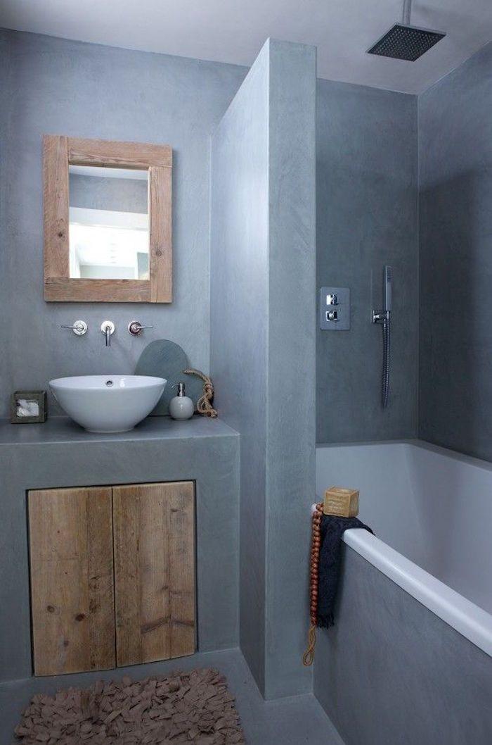 Salle de bain sans carrelage - des alternatives possibles   Carrelage salle de bain, Salle de ...