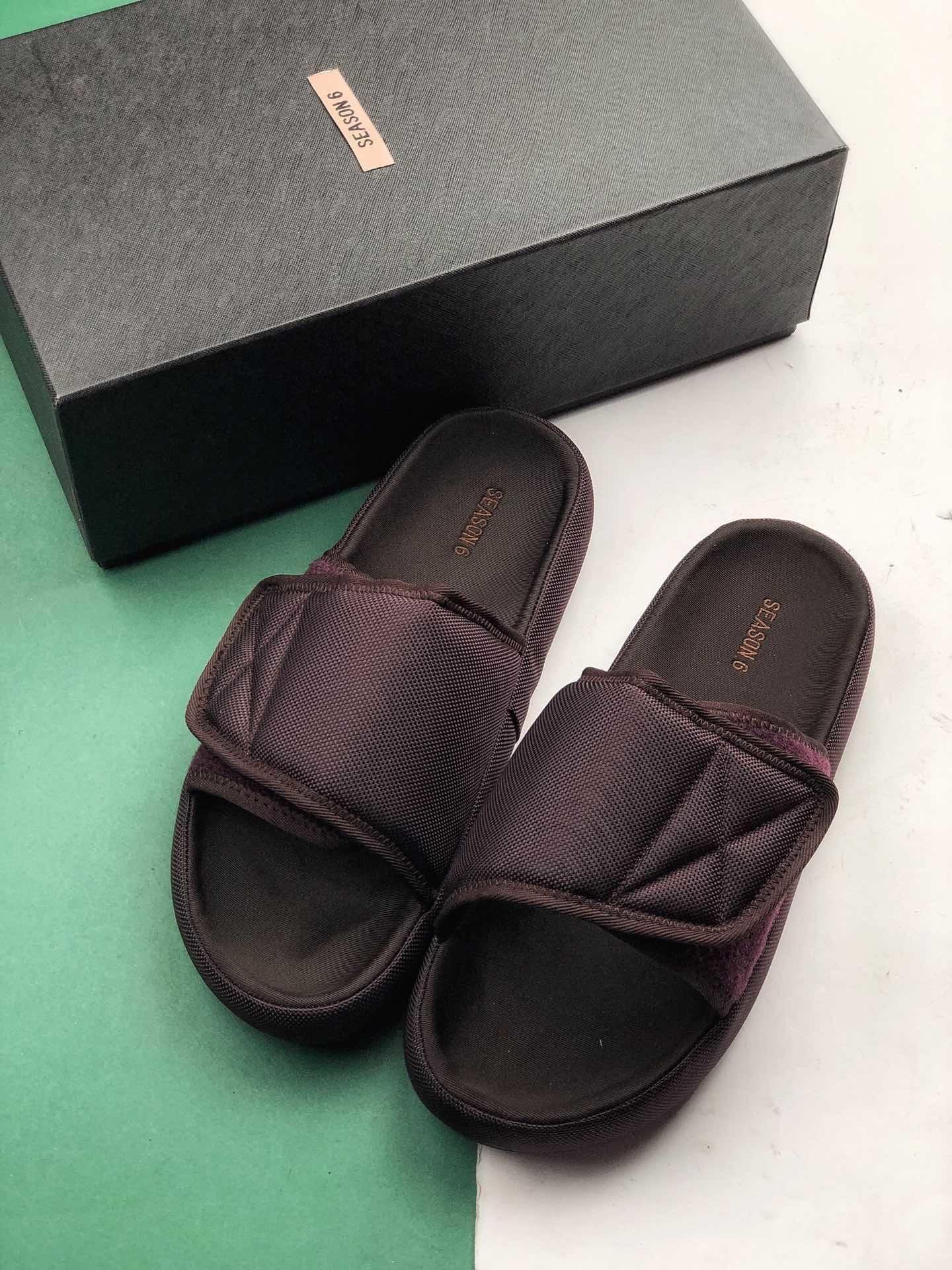 Kanye West Yeezy Season 6 Slides Girls Boots Gold Shoes Designer Slippers