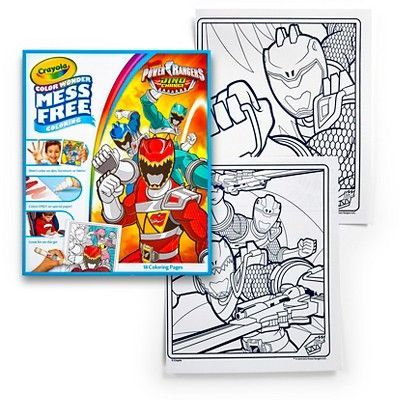 Crayola Color Wonder Refill Coloring Book - Power Rangers | Products ...