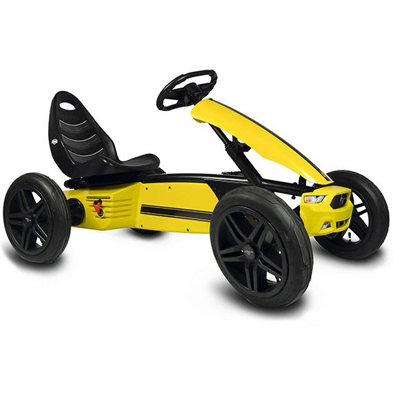 Berg Ford Mustang Pedal Kart Inspired By The 2015 Ford Mustang The Berg Ford Mustang Go Kart Is A Real Classic This Ford Mustang Gt Mustang Gt Ford Mustang
