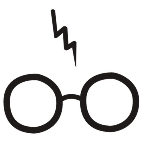 harry potter glasses clipart silhouette pinterest. Black Bedroom Furniture Sets. Home Design Ideas