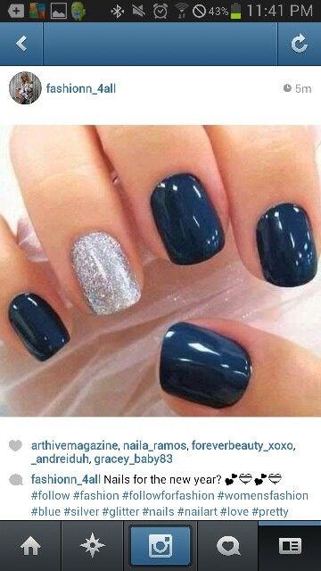 Blue Nails | Nail Art | Pinterest | Blue nails, Hair makeup and ...