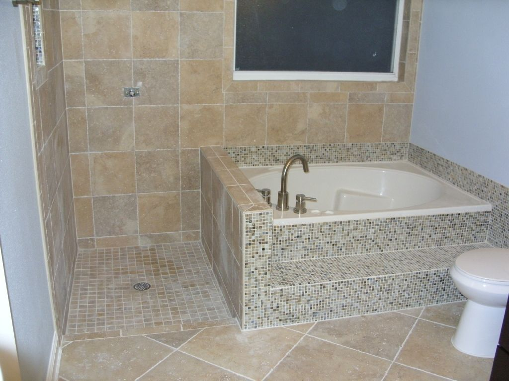 Small Corner Tub Shower Combo Freestanding Bathtub Faucet Upper ...
