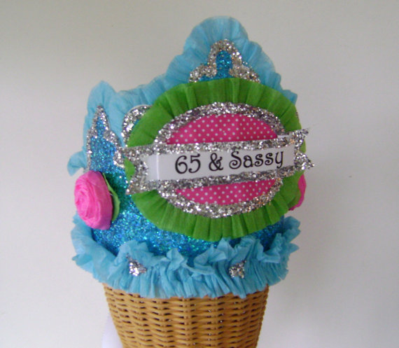 65th Birthday Party Hat Crown Adult 65 Sassy Or Custom