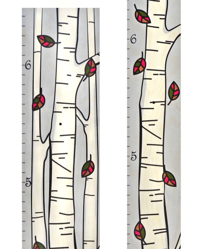 Single birch tree growth chart kids height chart wood growth single birch tree growth chart kids height chart wood growth chart ruler baby shower gift geenschuldenfo Choice Image