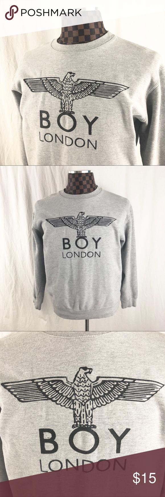 Boy London Crewneck Sweatshirt Gray Famona Grey Sweatshirt Crew Neck Sweatshirt Sweatshirts [ 1740 x 580 Pixel ]