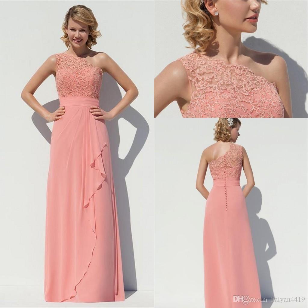 Bridesmaid Dresses 2016 Dusky Pink Long For Weddings Chiffon Floor ...