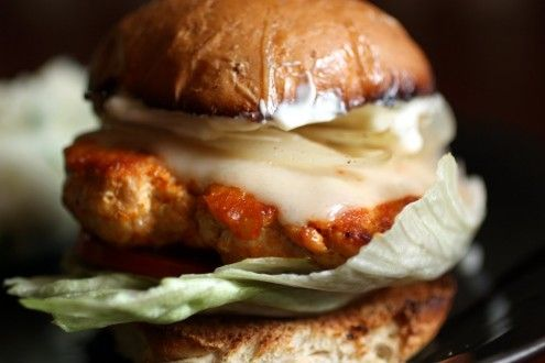 """Buffalo Wing"" Turkey Burger"