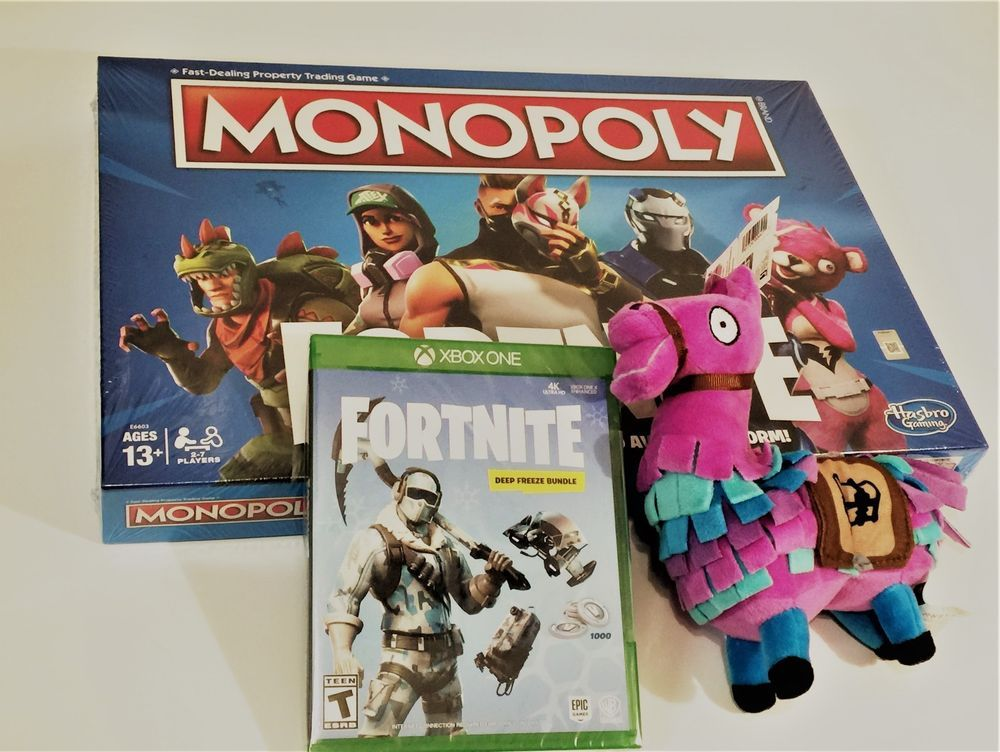 Bundle 3 Items Fortnite Monopoly With Xbox One X Fortnite Deep