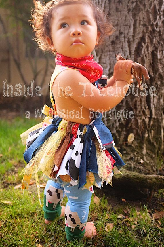 Farmer or Western cowgirl scrap fabric tutu | Baby girl 1st birthday cake smash outfit costume photography prop or dress up clothes  sc 1 st  Pinterest & Farmer or Western cowgirl scrap fabric tutu | Baby girl 1st birthday ...