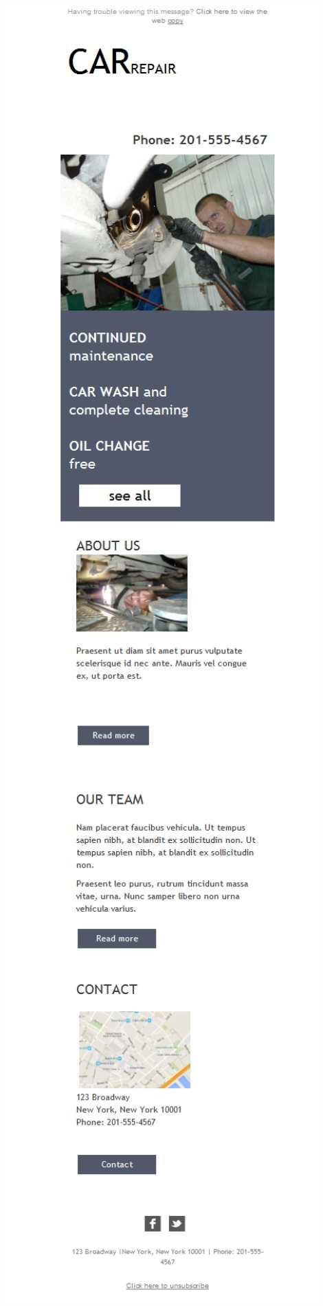 Versión responsive de una plantilla newsletter para talleres ...