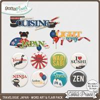 Travelogue Japan - Word Art & Flair Pack $2.99
