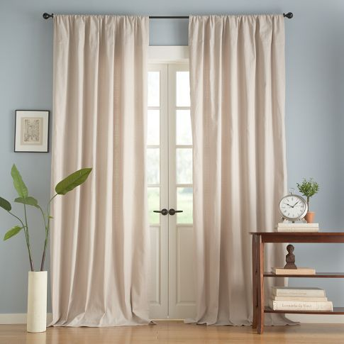 Textured Cotton Deep Pocket Drape | Pottery Barn   Love This For A Dining  Room