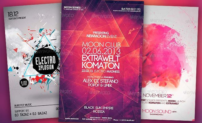 Best Electro Flyer Templates No.1 - http://www.flyermind.com/best-electro-flyer-templates-no-1/ #ClubPartyFlyer, #ElectroFlyer, #FlyerTemplates -