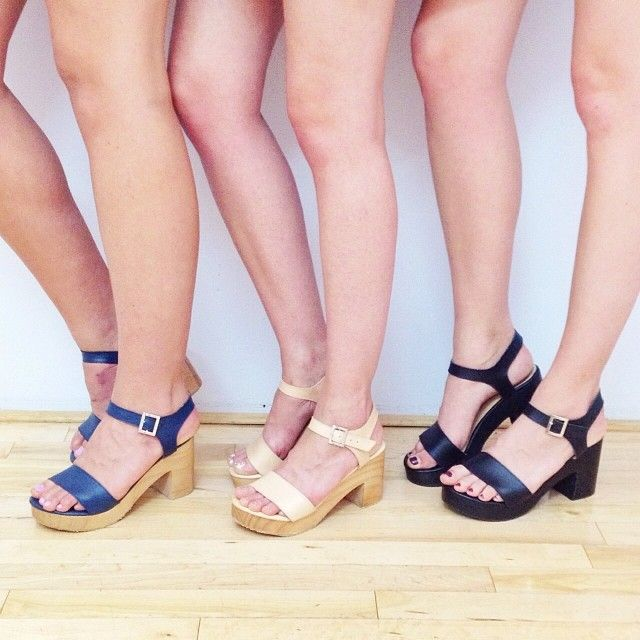 d26ea8c573d American Apparel Wooden Heel Sandal