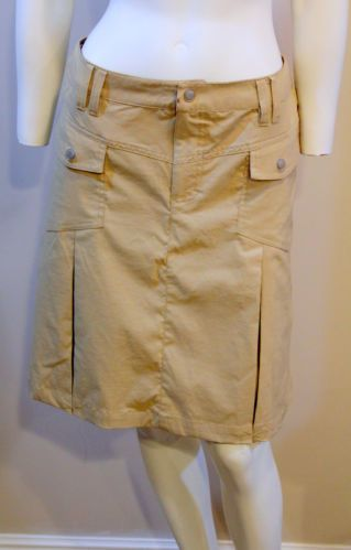 Athleta Khaki Skirt Pleated Athletic Outdoors Front Flap Pockets 10 Med | eBay