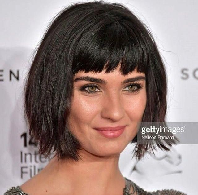 Pin On Bob With Bangs Black Hair