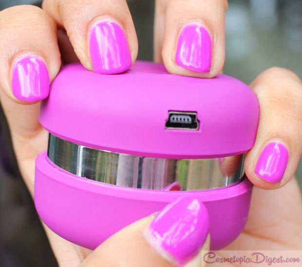 Le Mini Macaron Gel Manicure Kit in Grape: Review and NOTD | Esmalte