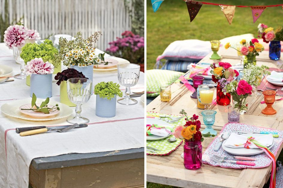 decoracin mesas de verano Virginia Esber bodes Pinterest