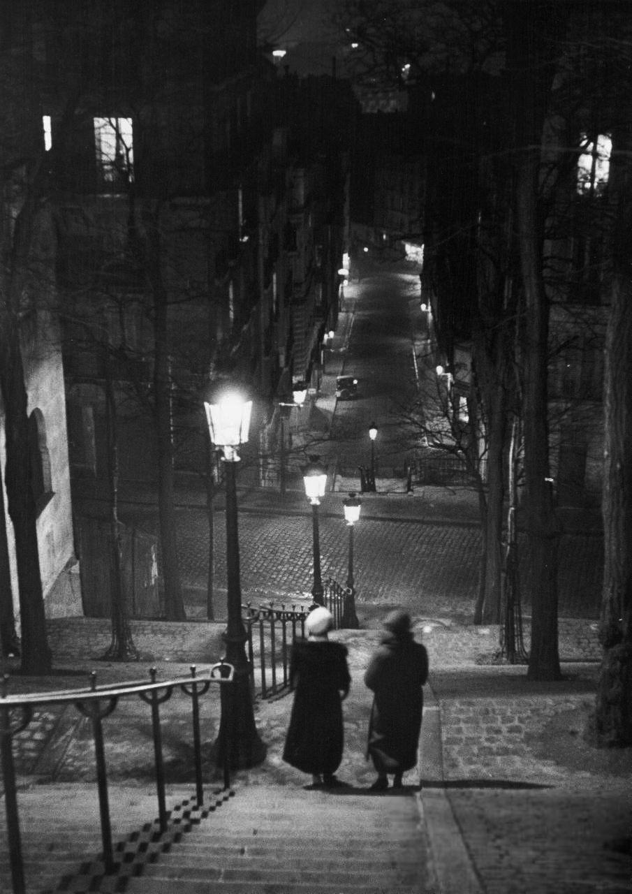 a138bd978c stairs after dark in montmartre, paris, 1930. Alfred Eisenstaedt ...