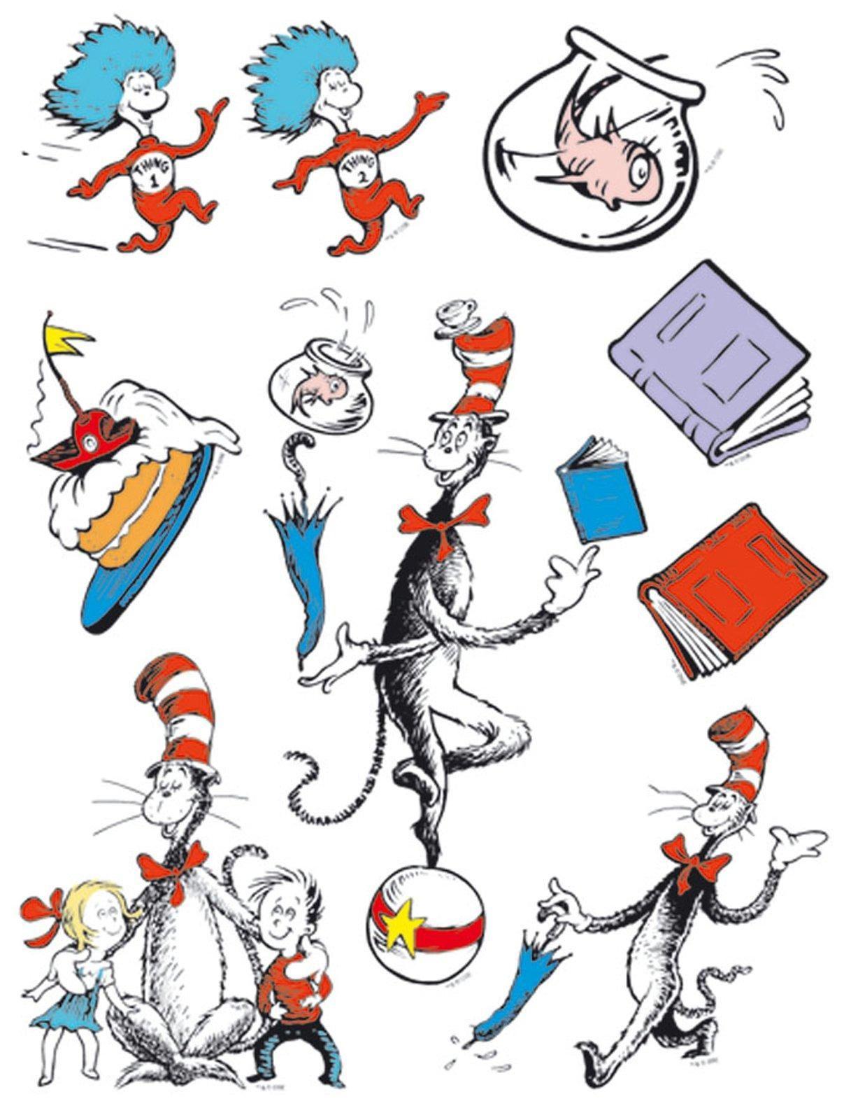 Dr. Seuss Cat in the Hat Window Clings | Pinterest