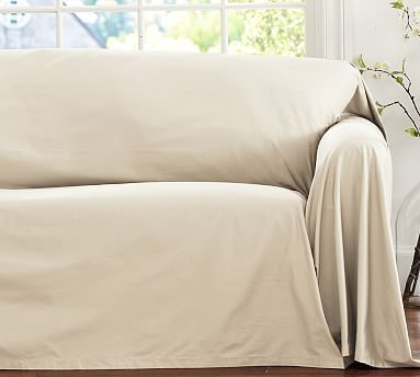 Beau Dropcloth Loose Fit Slipcover   Twill #potterybarn OR Lowes $31.00