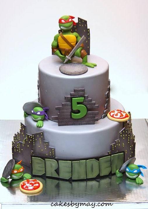 Ninja Turtles cake by Cakes by Maylene