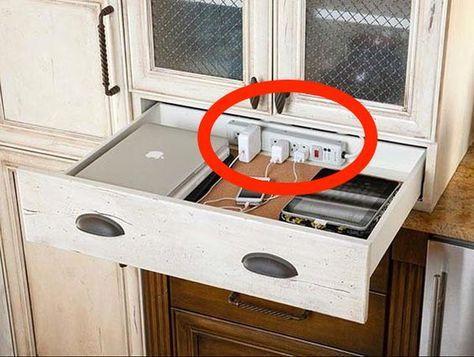Unordentliche Kabel, oder andere Dinge, die dich stören? Verstecke - ikea sideboard küche
