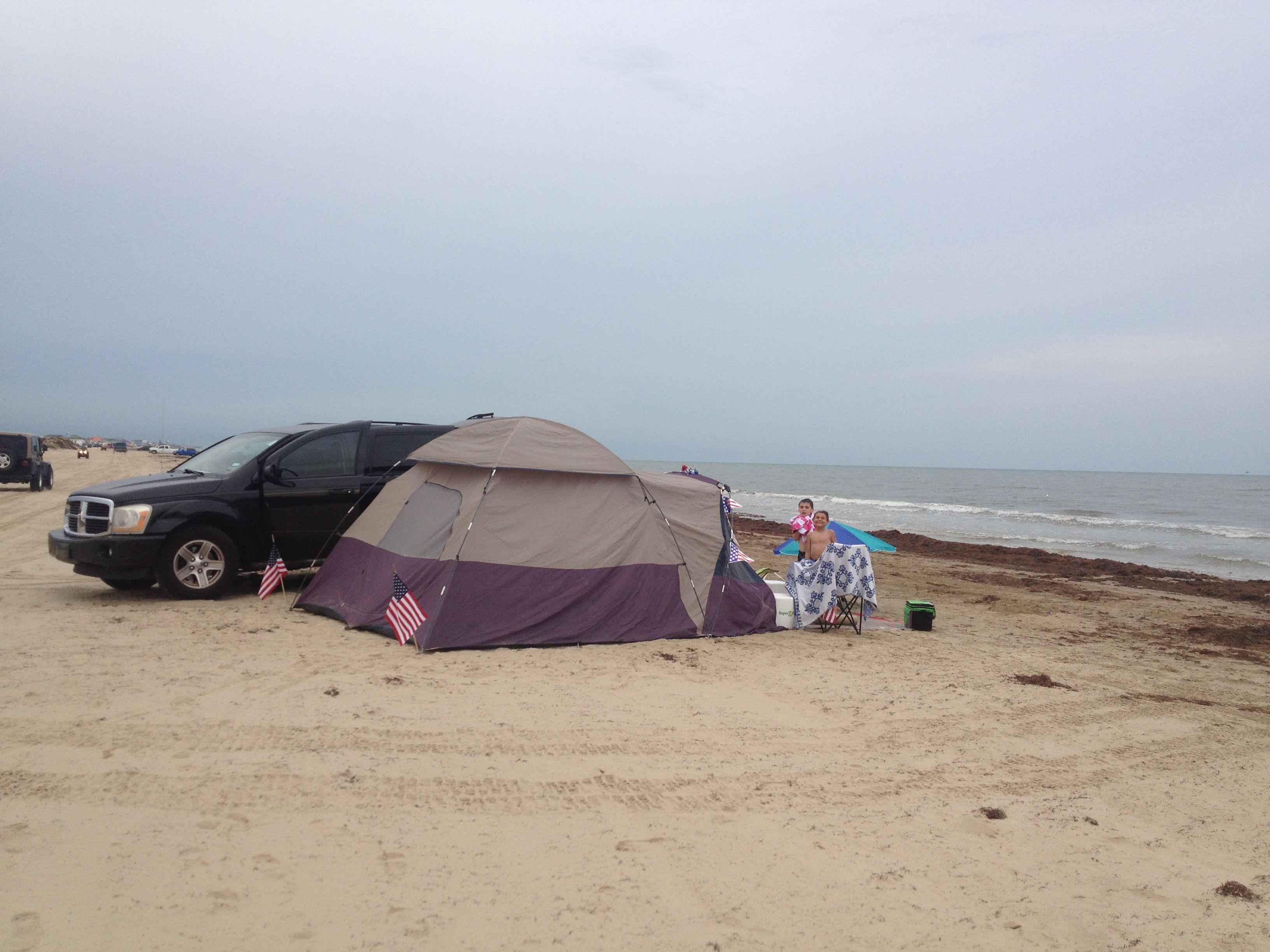 Tent Camping Bolivar Peninsula Galveston Tx 4th Of July 2017