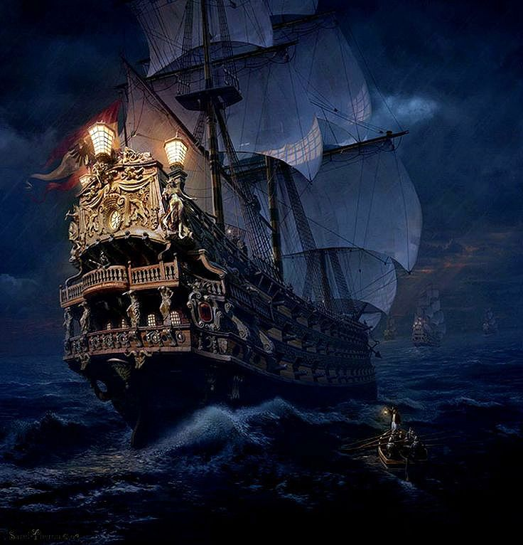 Картинки пиратский корабль на телефон