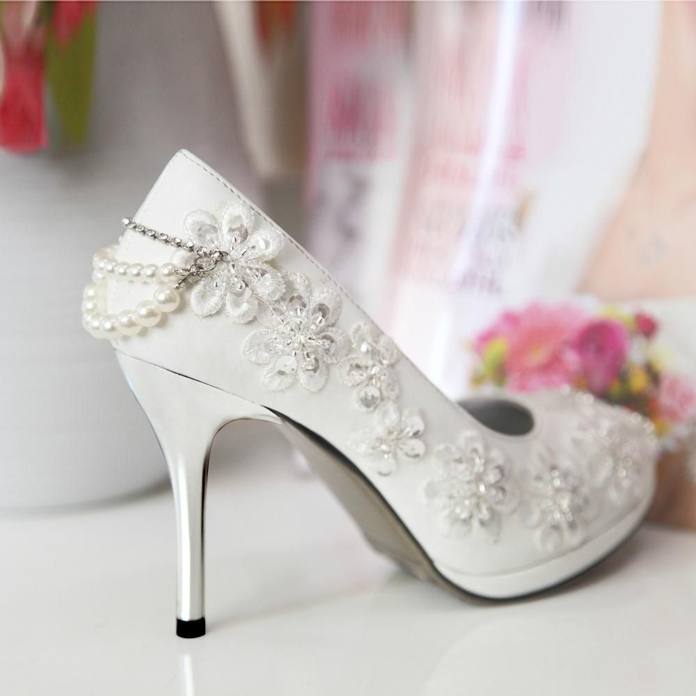 Polyvore Can Color If Want Pink Fairladyas Pinterest Bridal Shoe Wedding Shoes And W