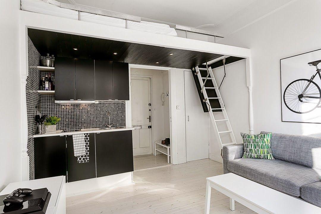 Joli am nagement piccoli spazi letti pinterest am nagement petit espace e micro appartement for Mobili per monolocali