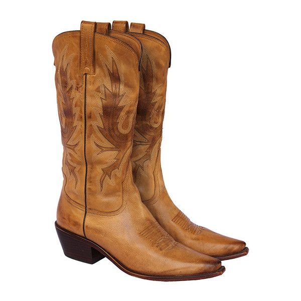 Introducing the perfect cowboy boot: hand crafted in burnished calf leather, these hit your calf at just the right spot and give a rugged edge to any lo...