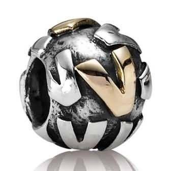 Pandora Letter V Charm 14k Gold And Sterling Silver Pandora Charms Pandora Original Pandora Beads