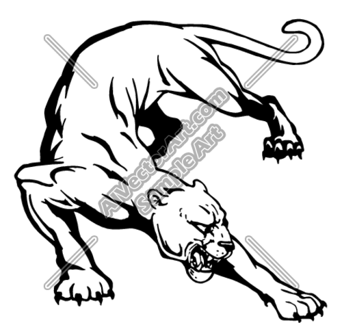 Cgams01 Clipart And Vectorart Animals Cougars Panthers Vectorart And Clipartimages For Sale Eps Jpg Png Form Drawings Black Panther Tattoo Panther Tattoo
