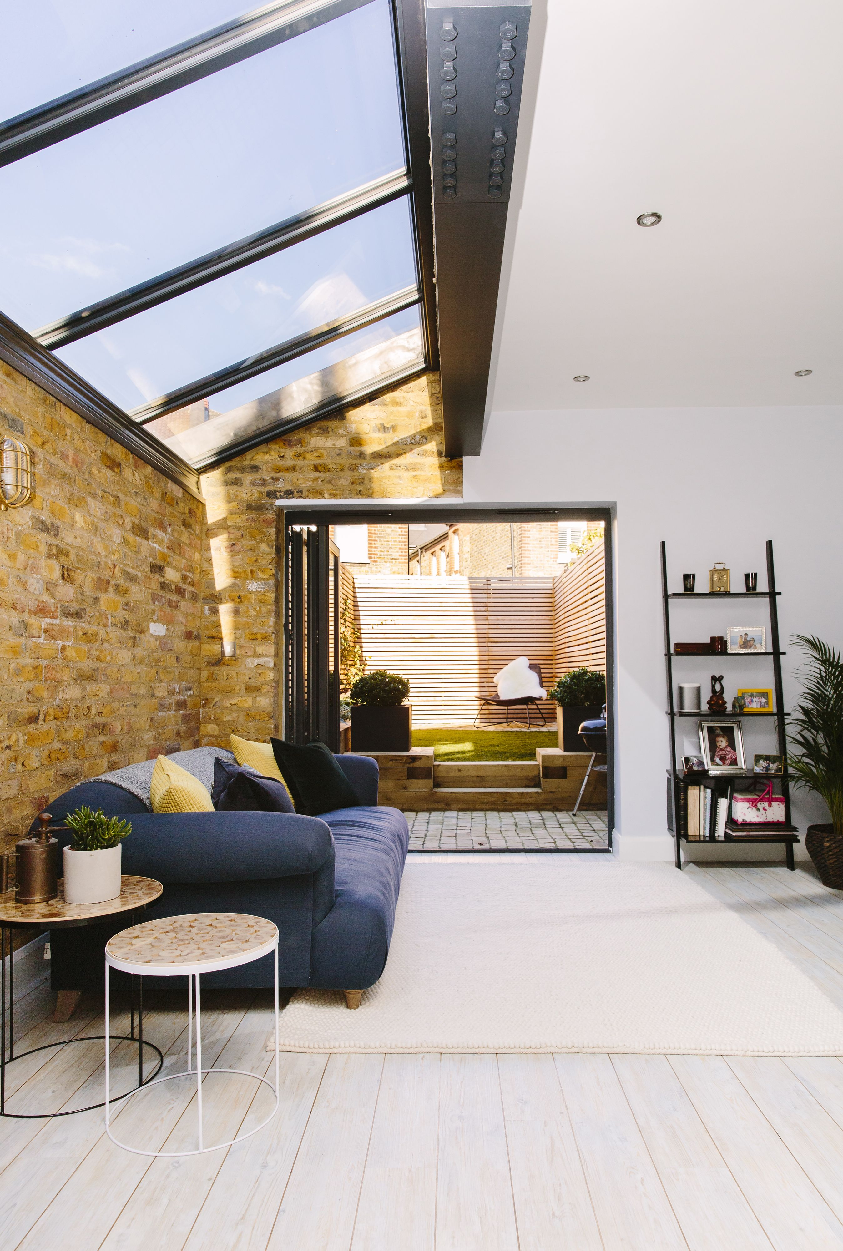 Rear extension allows you to move effortlessly from home into garden.