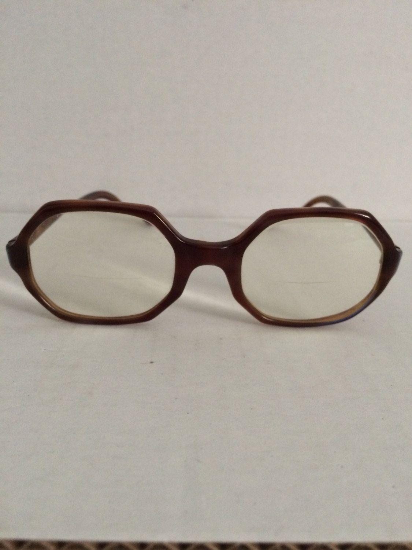 1a8e1220dd Vintage Eyeglasses 1960 s Milappe Octo Girl frames glasses womens frames  octogon tortoise shell eyeglasses by sipscafevintage on Etsy