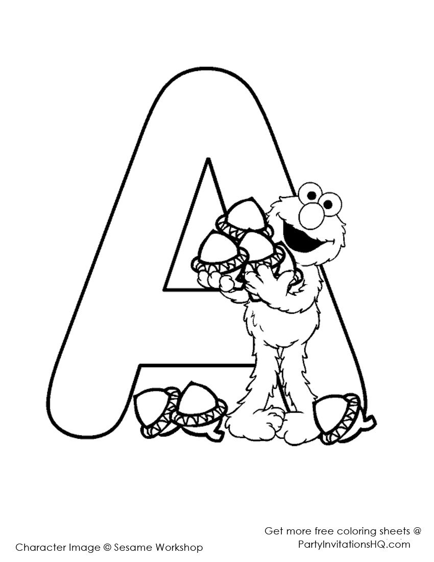 Letter A Coloring Pages - Preschool and Kindergarten | Pinterest