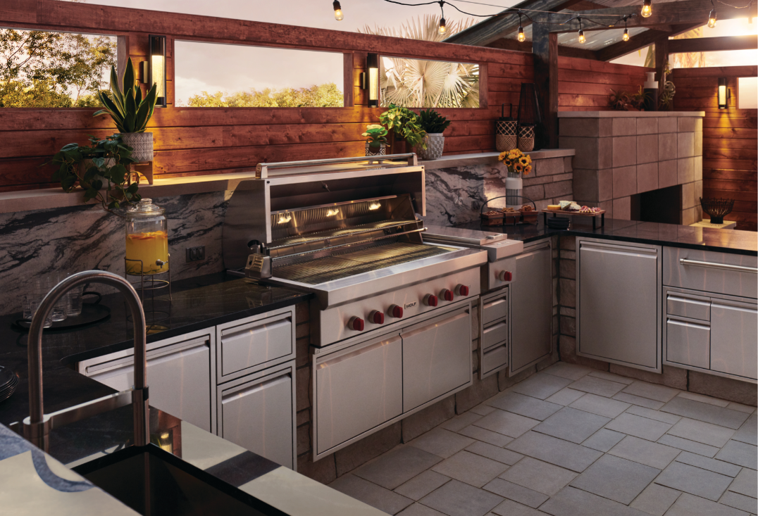Space And Storage Design For Your Outdoor Kitchen In Mechanicsville Adu In 2020 Luxury Outdoor Kitchen Outdoor Kitchen Outdoor Kitchen Appliances