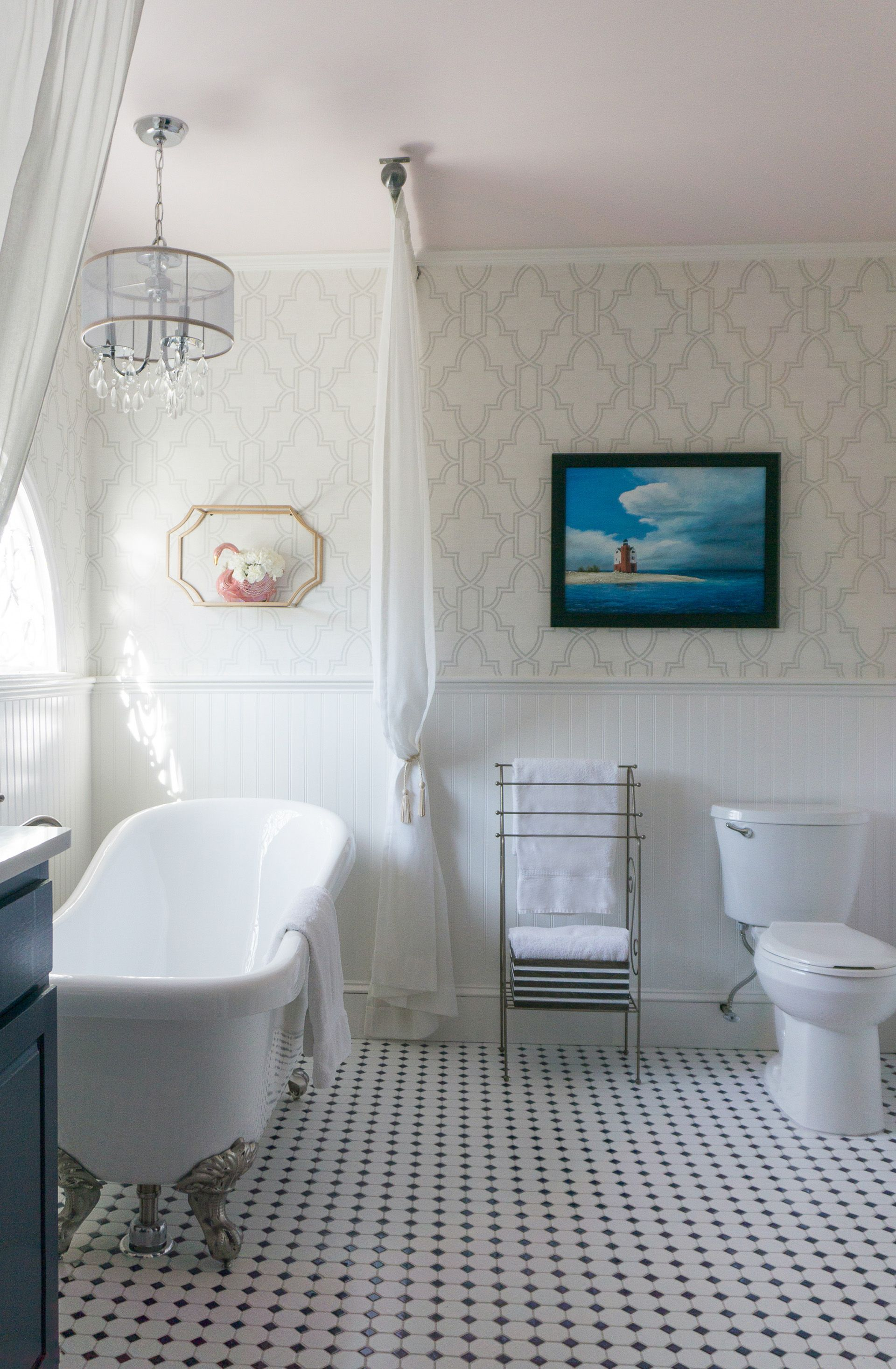 This Outdated Master Bathroom Was Updated With A Fresh, Yet