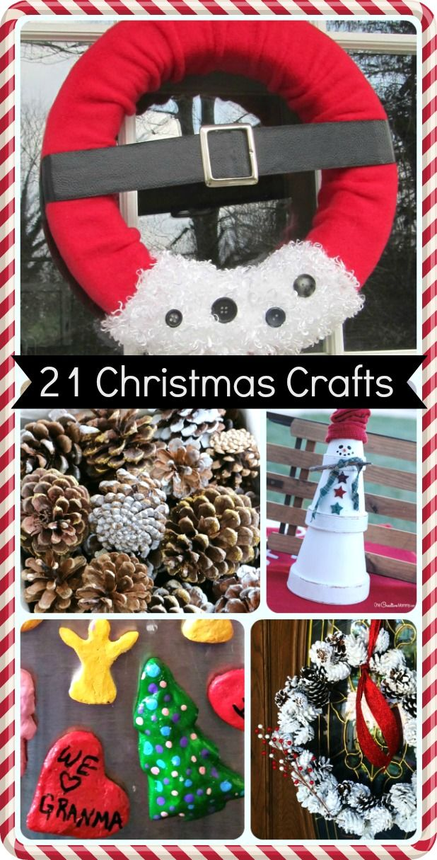 21 Christmas Craft Ideas Christmas crafts for kids
