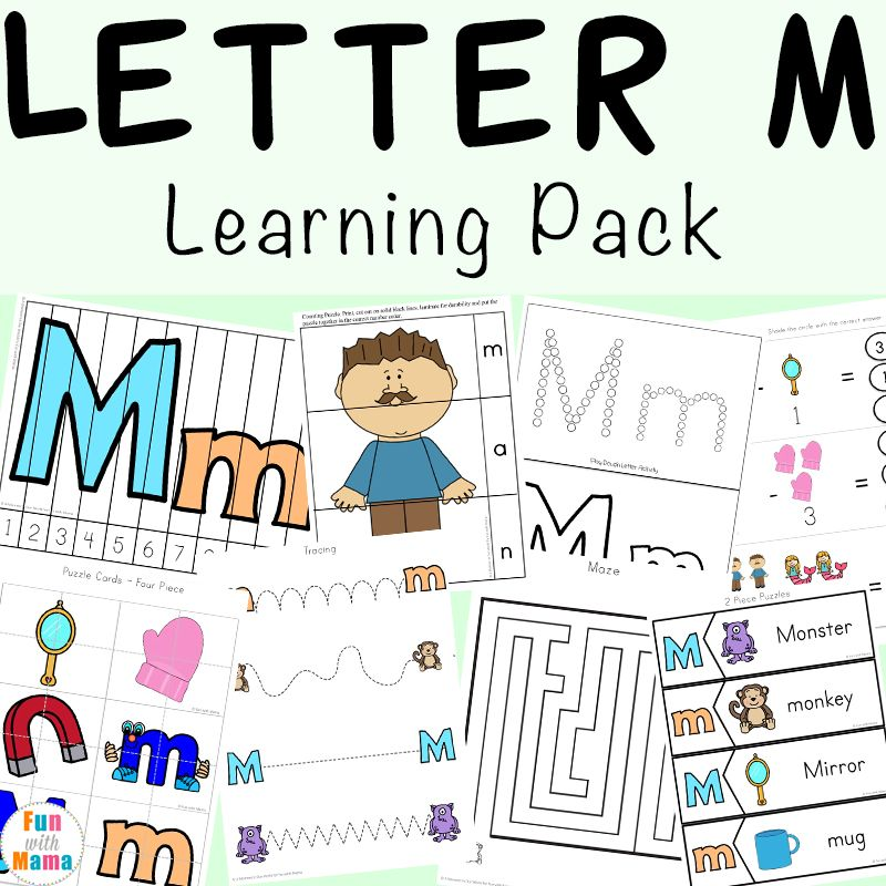 Letter M Activities For Letter Of The Week Activities Worksheets