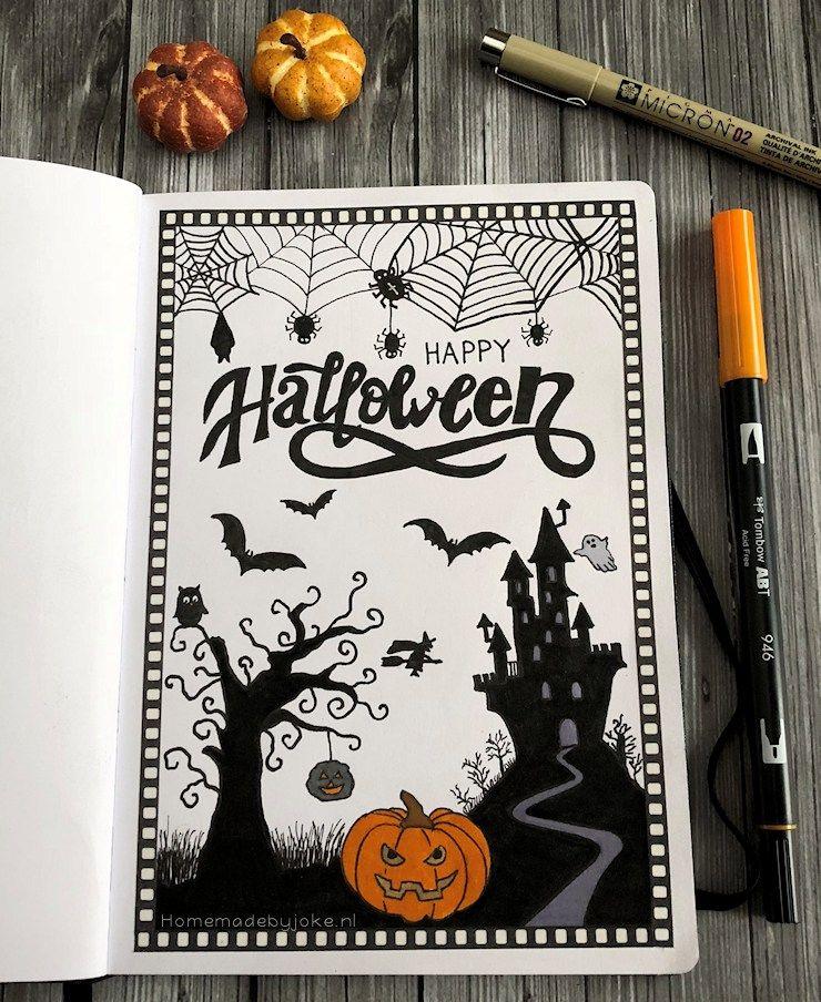 Bullet journal - Halloween 2018 #halloweenbulletjournal